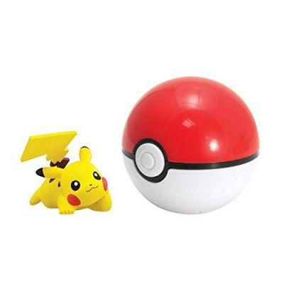 Figurine Clip'n Carry Poké Ball  - Pikachu + Pokéball