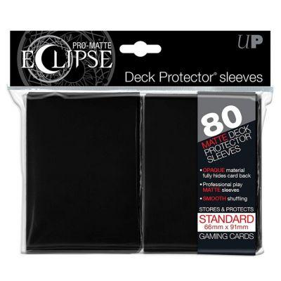 Protèges Cartes Sleeves Ultra-pro Standard Par 80 Eclipse Noir Matte