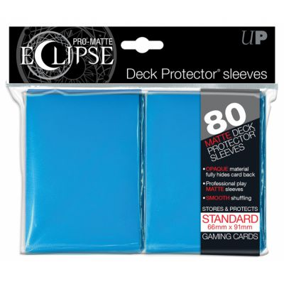 Protèges Cartes Sleeves Ultra-pro Standard Par 80 Eclipse Bleu MC Matte