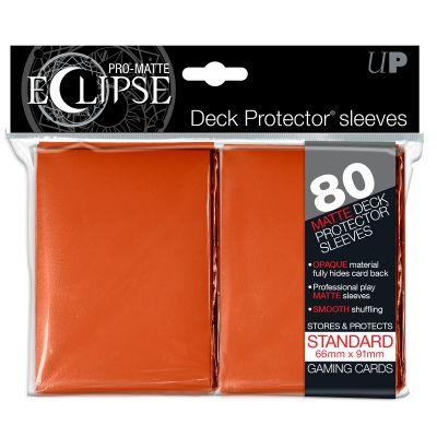 Protèges Cartes Sleeves Ultra-pro Standard Par 80 Eclipse Orange Matte
