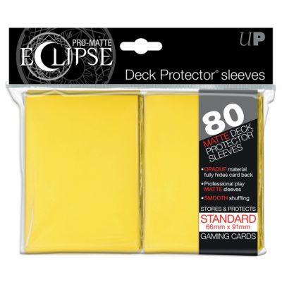 Protèges Cartes Sleeves Ultra-pro Standard Par 80 Eclipse Jaune Matte