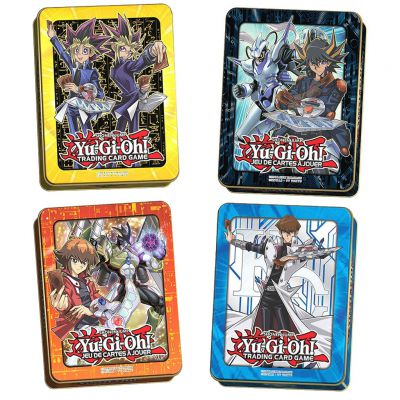 Tin Box Lot De 4 Mega-tin 2017 & 2018 - Yugi, Seto Kaiba, Jaden & Yusei