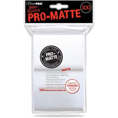 Protèges Cartes Sleeves Ultra-pro Standard Par 100 Blanc Matte