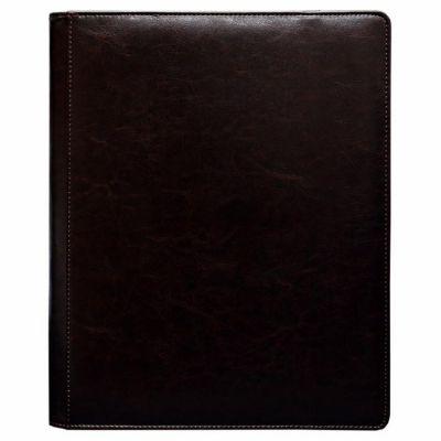 Portfolios Premium Pro-binder - Simili Cuir Brun Havane Cowhide -  360 Cases (20 Pages De 18)