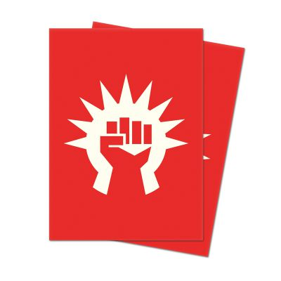 Protèges Cartes Sleeves Ultra-pro Standard Par 100 : Symbole Rouge