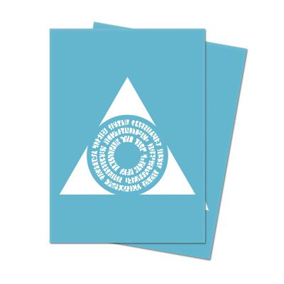 Protèges Cartes Sleeves Ultra-pro Standard Par 100 : Symbole Bleu Clair