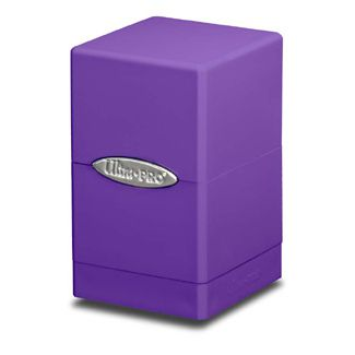 Boites de Rangement Satin Tower Deck Box Violet