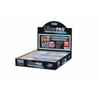 Feuilles de classeur Lot De 100 Feuilles De 9 Cartes - Avec Protection Rabattable