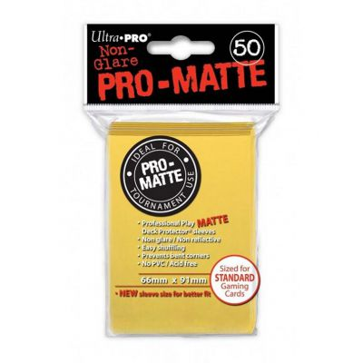 Protèges Cartes Sleeves Ultra-pro Standard Par 50 Jaune Matte