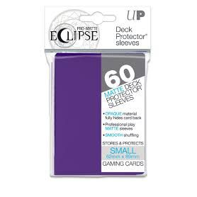 Protèges Cartes Format JAP Sleeves Ultra-pro Mini Par 60 Eclipse Matte Violet