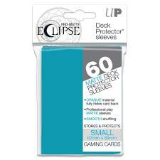 Protèges Cartes Format JAP Sleeves Ultra-pro Mini Par 60 Eclipse Matte Bleu Clair MC