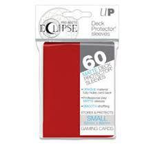 Protèges Cartes Format JAP Sleeves Ultra-pro Mini Par 60 Eclipse Matte Rouge