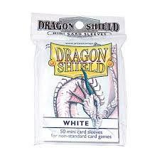 Protèges Cartes Format JAP Sleeves Dragon Shield Mini Par 50 Blanc (Lisse)