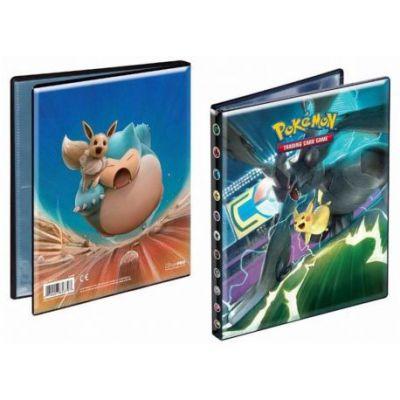 Portfolios SL9 - Soleil Et Lune 9 - Duo de Choc - Zekrom/Pikachu & Ronflex/Evoli (10 Feuilles De 4 Cases 80 Cartes)
