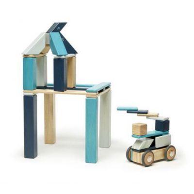 Créatif Blocs en Bois Magnétiques – Classics Bleu