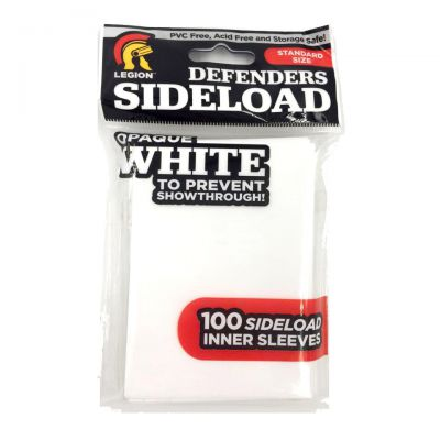 Protèges Cartes Legion - Sleeves Standard Par 100 - Defenders Side Load (Pro-Fit) - Blanc