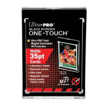 Protèges Cartes Magnetic Holder One-touch Black Border