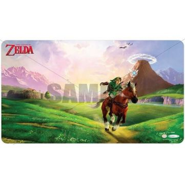 Tapis de Jeu Playmat - Ultra Pro The Legend of Zelda: Link & Epona avec Tube de Protection