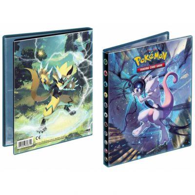 Portfolios SL10 - Soleil Et Lune 10 - Alliance Infaillible - Zeraora & Mewtwo (10 Feuilles De 4 Cases 80 Cartes)