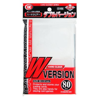 Protèges Cartes Kmc - Standard Sleeves - W Version Clear (80 Sleeves)