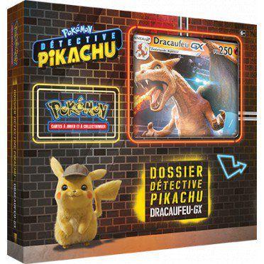 Coffret Dossier Détective Pikachu : Dracaufeu GX