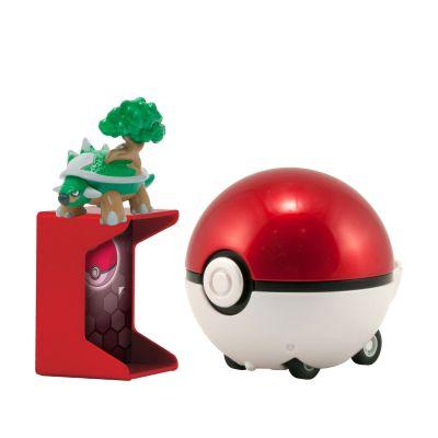 Figurine Pokemon X Et Y - Catch'n Return Pokeball  Torterra / Pokéball