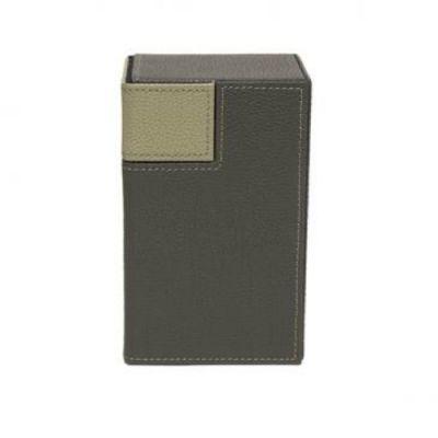 Boites de Rangement M2 Cuir Deck Box Gris & Taupe