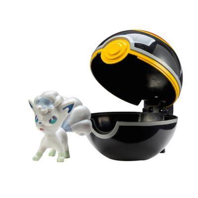 Figurine Clip'n Go Poké Ball  - Goupix d'Alola + Luxe ball
