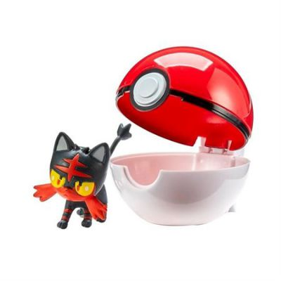 Figurine Clip'n Go Poké Ball  - Flamiaou + Pokéball