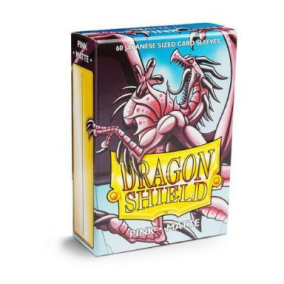 Protèges Cartes Format JAP Sleeves Dragon Shield Mini Pink Matte - par 60