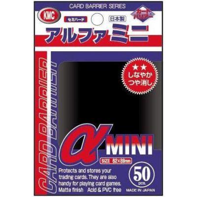 Protèges Cartes Format JAP Kmc - Alpha Mini Black - par 50