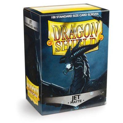 Protèges Cartes Sleeves Dragon Shield Standard Jet Black Matte - par 100