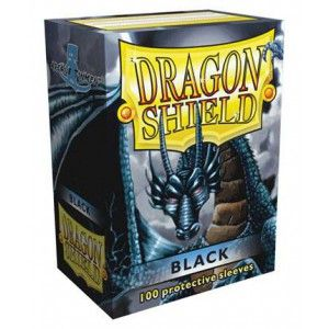 Protèges Cartes Sleeves Dragon Shield Standard Black (Noir) - par 100
