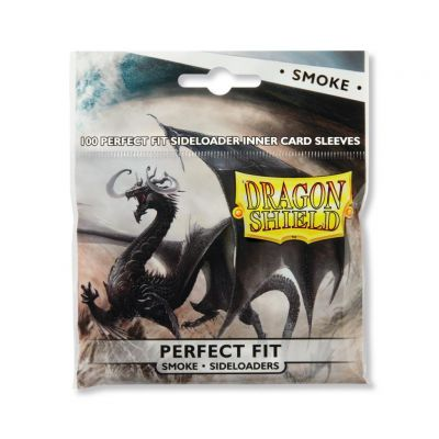 Protèges Cartes Sleeves Dragon Shield Standard Perfect Fit sideload Smoke- par 100