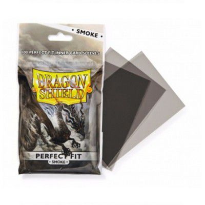Protèges Cartes Sleeves Dragon Shield Standard Perfect Fit Smoke- par 100