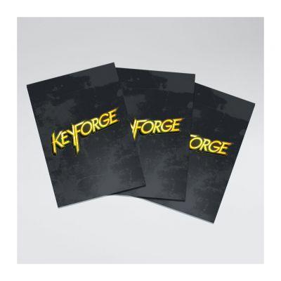 Protèges Cartes 40 Pochettes Logo Keyforge Noir