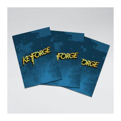 Protèges Cartes 40 Pochettes Logo Keyforge Bleu
