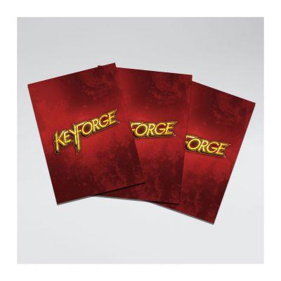 Protèges Cartes 40 Pochettes Logo Keyforge Rouge