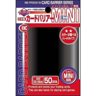 Protèges Cartes Format JAP Kmc - Mini Black (Noir & Lisse)