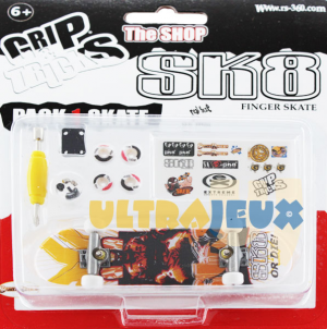 ultrajeux 1 pack grip tricks 1 finger skate accessoires sk8 or die spirit riders. Black Bedroom Furniture Sets. Home Design Ideas