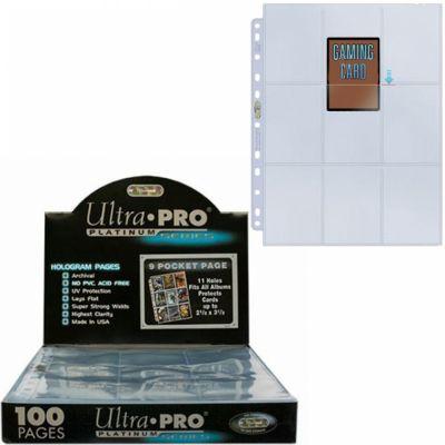 Feuilles de classeur Lot De 100 Feuilles De 9 Cartes - Platinum Series