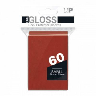Protèges Cartes Format JAP Sleeves Ultra-pro Mini Par 60 Rouge