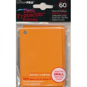 Protèges Cartes Format JAP Sleeves Ultra-pro Mini Par 60 Orange