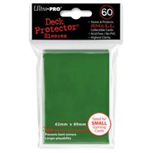 Protèges Cartes Format JAP Sleeves Ultra-pro Mini Par 60 Vert Foncé