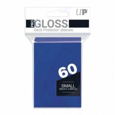 Protèges Cartes Format JAP Sleeves Ultra-pro Mini Par 60 Bleu Foncé
