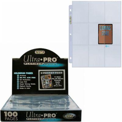 Feuilles de classeur Lot De 100 Feuilles De Classeur Ultrapro Side Load Transparent
