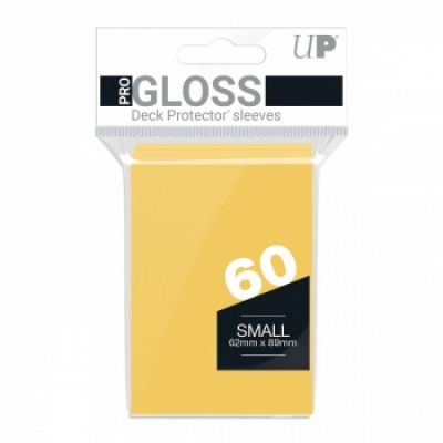 Protèges Cartes Format JAP Sleeves Ultra-pro Mini Par 60 Jaune