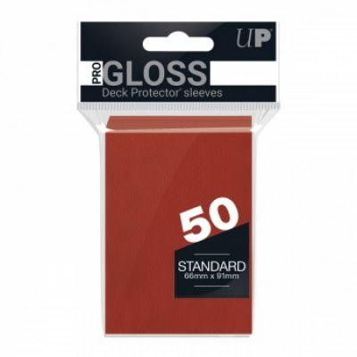 Protèges Cartes Sleeves Ultra-pro Standard Par 50 Rouge