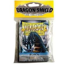 Protèges Cartes Format JAP Sleeves Dragon Shield Mini Par 50 Noir (Lisse)