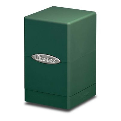 Boites de Rangement Satin Tower Deck Box Vert Foncé